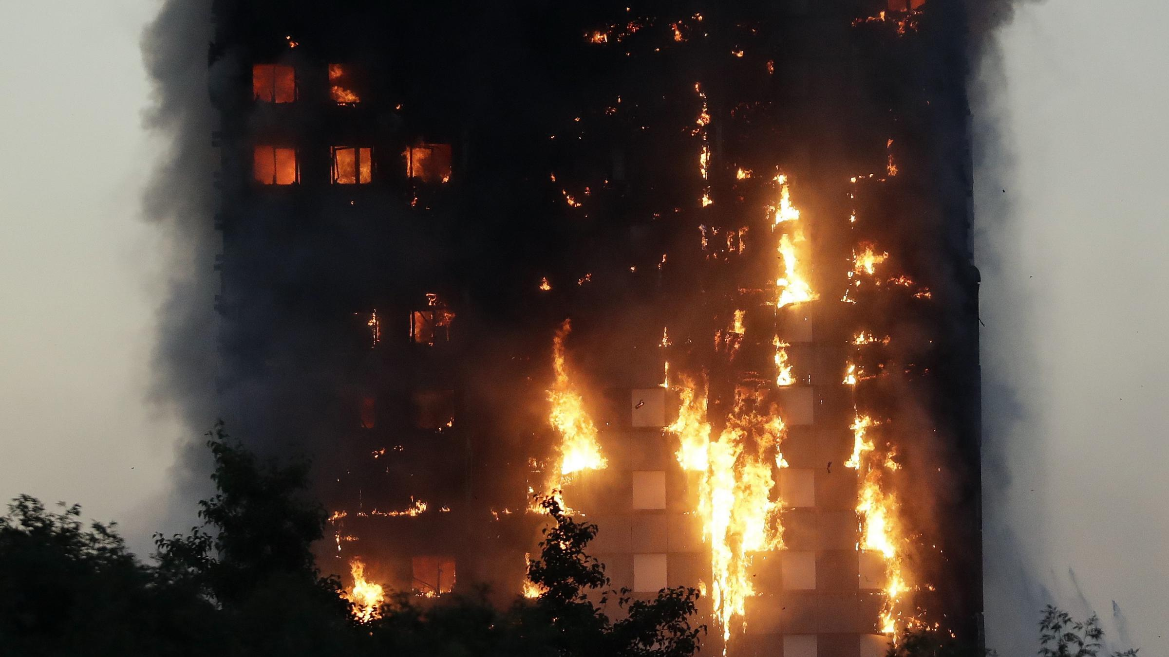 Fire engulfs 24-storey residential building in London, occupants trapped